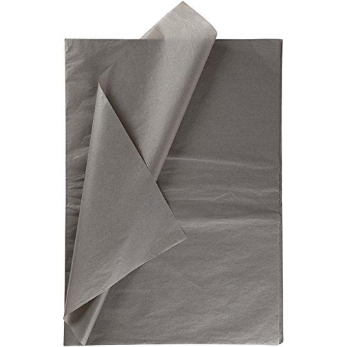 Seidenpapier, Blatt 50x70 cm, 14 g, grau, 25Blatt
