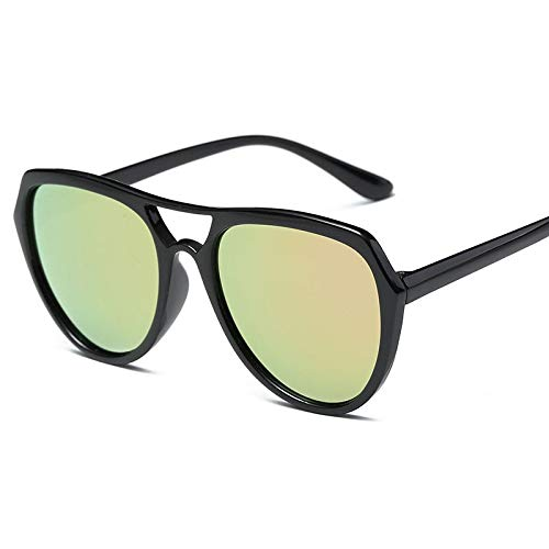LIJINCHENG-Sunglass Sonnenbrillen Herrenmode-Trend Sonnenbrillen Driving Fashion Vintage Outdoor Beach Big Frame Sonnenbrillen (Lenses Color : Black White)