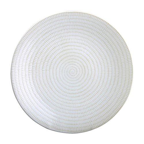 Avet Spain Rice Juego de Platos Llanos, Gres, Blanco, 27.5 cm, 6 Unidades