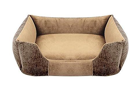 AnGe The Dog's Bed, Premium Plush Orthopedic Memory Foam Dog Beds Lounge , coffee , s
