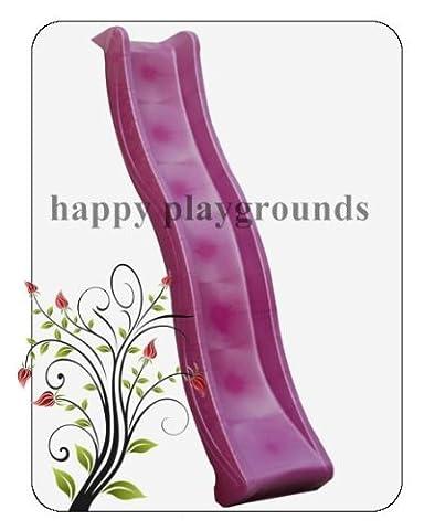 Childrens Garden Plastic Slide 8ft(2,5m) for Kids Climbing Frame (pink)