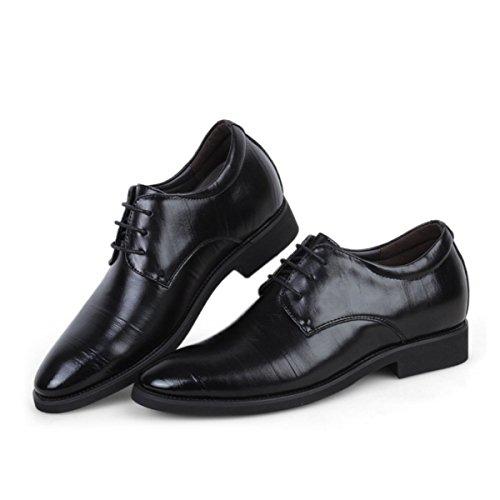 LYZGF Men Gentlemen Business Casual Fashion Scarpe In Pelle Pizzo Mezza Età Black