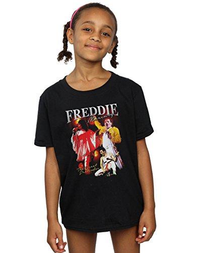 Absolute Cult Queen Niñas Freddie Mercury Homage Camiseta Negro 12-13 Years