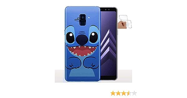 Coque Samsung A8 2018 Stitch/Housse Silicone/Souple/Collection Fun