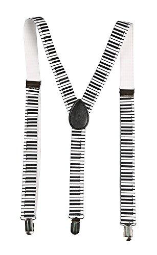 Hosenträger für Damen und Herren Fashion Accessoires (Klaviertasten)
