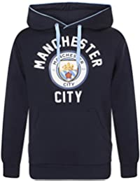 Manchester City FC Official Football Gift Mens Fleece Graphic Hoody