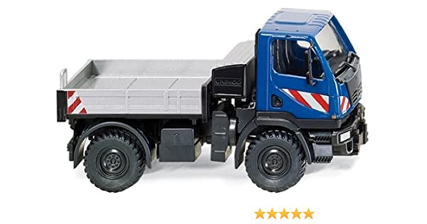 Modellfahrzeug Autos bruder MB-Unimog Winterdienst mit Räumschild