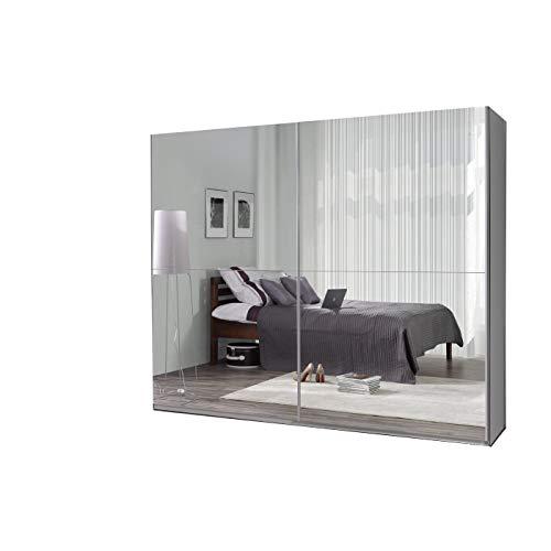 mb-moebel Kleiderschrank Schrank Garderobe Zweitürenschrank Schwebetürenschrank Schwebetüren 2-Türig Schlafzimmerschrank 244cm Maxi (Maxi 27 (Spiegel)) -