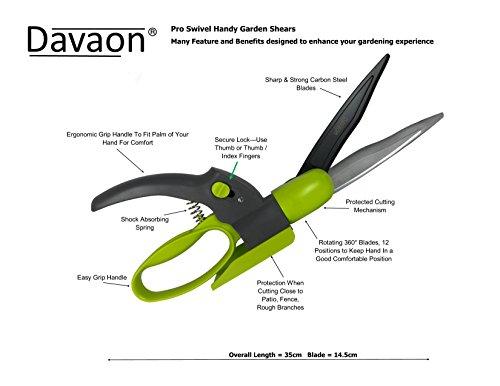 Buy cheap davaon pro swivel grass garden shears 360 for Top quality garden tools
