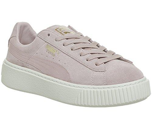 Puma Suede Platform Silver Pink Gold