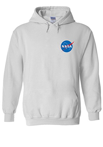 NASA Space Rocket Moon Space Astronaut Pocket Novelty White Men Women Damen Herren Unisex Hoodie Kapuzenpullover Verschiedene ()
