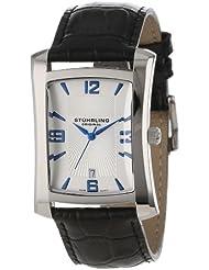 Stuhrling Original Herren 8144AL.32152 Classic Gatsby Swiss Quartz Date Black ...