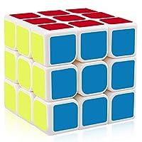 YongJun Guanlong Speed Cube 3x3x3 Smooth Magic Cube YJ Cube Puzzle Toys 56 mm (White)