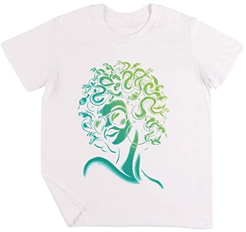 Irre Meduse Kinder Jungen Mädchen Unisex T-Shirt Weiß