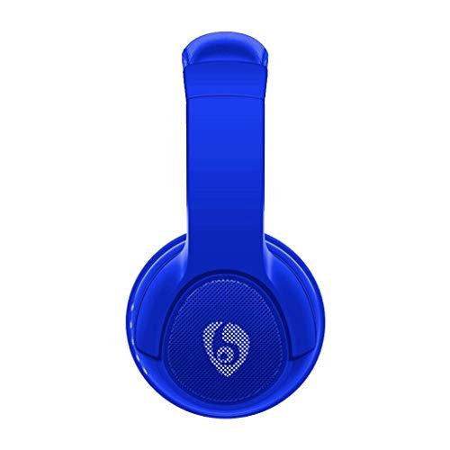 Bluetooth Kopfhörer Over Ear Wireless Bluetooth-Kopfhörer Audio-Umschalt-LED für PUPG/LOL / PS4(Blau)