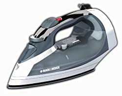 Black & Decker ICR05X Cord-Reel Steam Iron, Grey/White by BLACK+DECKER
