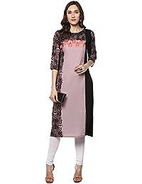 Janasya Women's Polyester Crepe Kurta