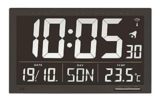 TFA 60.4505 Reloj Digital Mural Negro con termómetro tamaño XXL (B00AE4C7VC) | Amazon Products
