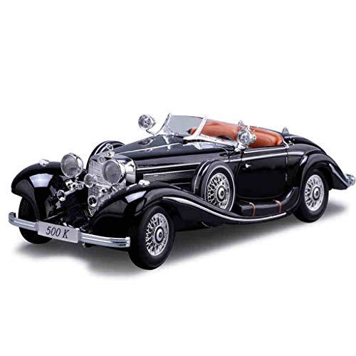PENGJIE-Model 1:18 Mercedes-Benz 500k Retro Oldtimer Modell Simulation Legierung Automodell Erwachsene Metall Spielzeug (Farbe : 500k)