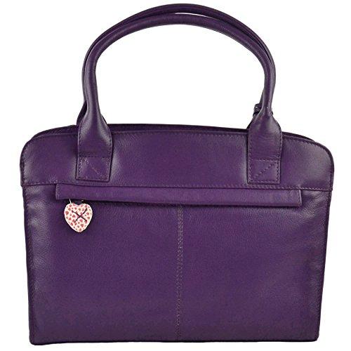 Mala Leather , Herren Henkeltasche Violett