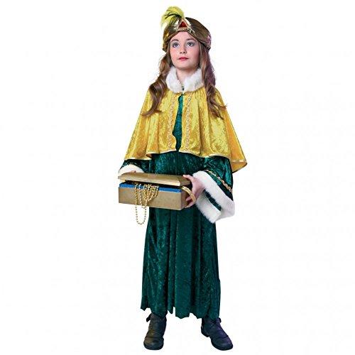 Balthasar König Kostüm - Sternsinger Kinderkostüm Balthasar 140/152 Gewand Cape Turban Krippenspiel König