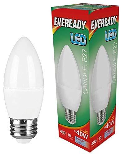 Eveready 3x 6w LED E27 Opal Kerze - 480lm's - 865/6500k - Tageslicht -