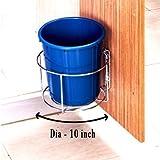 Plantex High Grade Stainless Steel Bin Holder/Dust Bin Holder/Modular Kitchen Fixture (Dia 10 Inches)