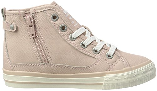 Mustang 5024-513, Sneakers Hautes Fille Rouge (555 Rose)