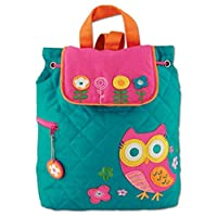New Quilted Owl Backpack Girls Kids Bag Childs Teal Rucksack Stephen Joseph