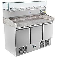 Royal Catering - RCKT-140/70-V - Bajomostrador refrigerado - 140x70cm - de granito - 380 l - 300 watt - Envío Gratuito