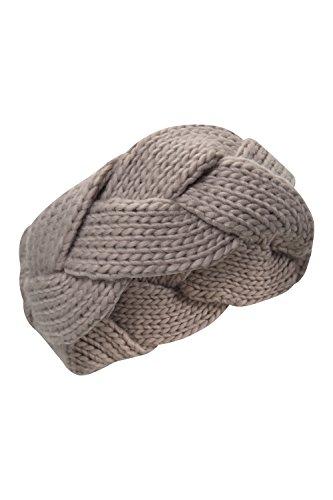 mountain-warehouse-bandeau-femme-hiver-tresse-epais-tricot-gris-taille-unique