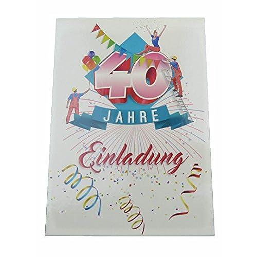 Einladungskarten Runder Geburtstag. Postkarten 20 Stück Im Set. Einladung  Zum 40 Geburtstag Mit Text Auf Der Rückseite. Ausfüllen, überreichen Oder  Mit Der ...