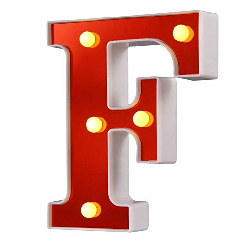 LED Marquee Letter Lights 26 Alphabet Red Pleasent