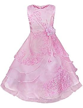 YiZYiF Kinder Mädchen Kleid festlich Party Brautjungern Kleid Blumenmädchenkleider Festzug Gr. 104 110 116 128...