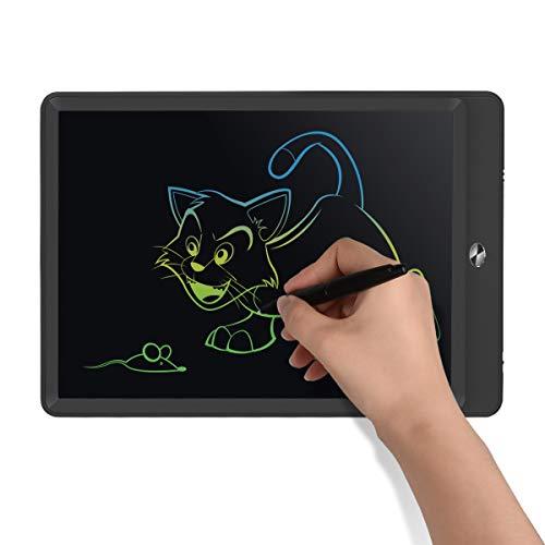 Upgrow LCD Writing Tablet, 10 Zoll LCD-Schreibtafeln mit Bunter Schrift, Grafiktabletts Schreibplatte Digital Schreibtafel Papierlos Maltafel für Kinder Schule Graffitik Malen Notizen (schwarz)
