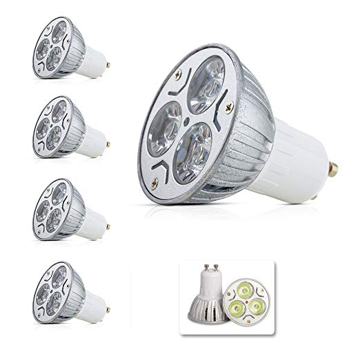 GU10 LED Glühlampen Lampe 3W, High Power LED Strahler Leuchtmittel LED Leuchtmittel in Beleuchtung, Super Bright LED Spot Lampen, 250-300LM, Kaltweiß 4Pack Power Led-lampe