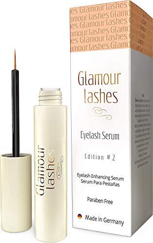 Wimpernserum und Augenbrauen Wachstumsserum - 4 ml Glamour Lashes Edition 2 für ein schnelles Wimpernwachstum und Augenbrauenwachstum I Wimpern Booster MADE IN GERMANY