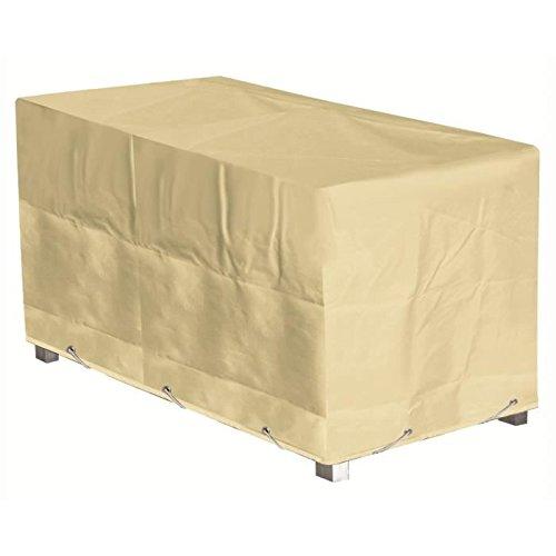 GREEN CLUB Housse de protection pour table - 160x100x65 cm - Beige