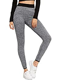 BLINKIN Yoga Gym Workout and Active Sports Fitness Grey Leggings Tights for Women|Girls (285)