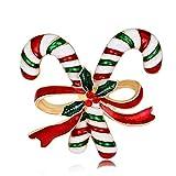 Newin Star Weihnachten Brosche Exquisite Candy Stick mit Strass Brosche Mädchen Damen Schal Kleid Pins Mode Brosche Gutes Weihnachten Geschenk