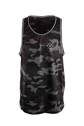 Manufaktur13 M13 Vandal Team - Trikot/Jersey, Sleeveless Tank Top, Basketball Shirt, Graffiti Vandalism Sportswear (L, Navy Camo)