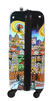 ... 50 Euro Rabatt ... PREMIUM DESIGNER Hartschalen Kofferset 2 tlg. - Heys Künstler Fazzino London - Trolley mit 4 Rollen Medium + Trolley mit 4 Rollen Gross London