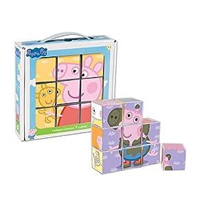 Cefa Toys- Peppa Pig Rompecabezas, 9 Cubos, Miscelanea (88233)