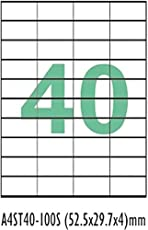 DIGITAL SHOPEE 40-Up (2000 Stickers) FBA Products Labels A4 Size 4By10 Label for Fulfillment Services Seller (40 Label Sheet)(Pack of 50 Sheets)