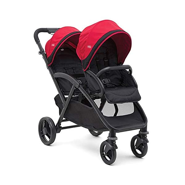 XUE Twin Baby Strollers, Front And Rear Reclining Doubles With 5-Point Safety System And Multi-Positon Reclining Seat Extended Canopy Easy One Hand Fold Large Storage Basket XUE ∵ Wipeable and washable design for easier cleaning. ∵ Convertible high chair becomes booster and toddler seat. ∵ Keeps little ones secure with 3-point and 5-point harnesses. 1