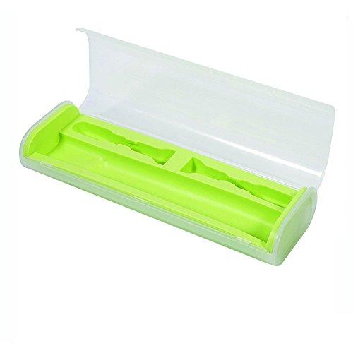 HCFKJ Ragbare Elektrische ZahnbüRstenhalter Travel Safe Fall Box FüR Oral-B (GRUN)