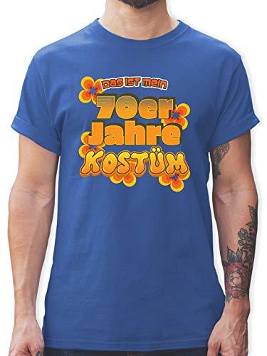 Karneval & Fasching - Das ist Mein 70er Jahre Kostüm - XXL - Royalblau - L190 - Herren T-Shirt und Männer - Wirklich Lustige Kostüm