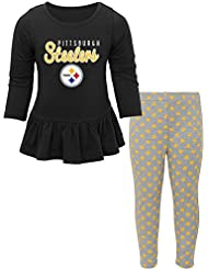 "Pittsburgh Steelers NFL Toddler Girls ""Tiny Trainer"" Long Sleeve & Pants Set"