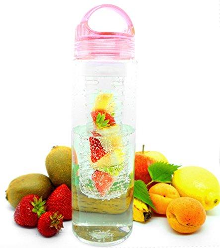 Trinkflasche mit Fruchteinsatz (Rosa)