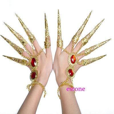 IJEWALRY Damenarmband Armbänder Armband,Mode Persönlichen Eleganten Indischen Thailändischen Goldenen Fingerschmuck Für Bauchtanz Tanzen Finger Cot Kostüm